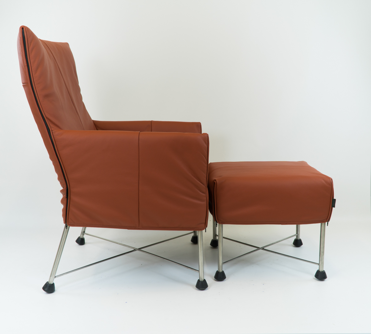 Fauteuil Charly Montis.Montis Charly Natur Hocker Inclusief Rvs Frames Guldeling